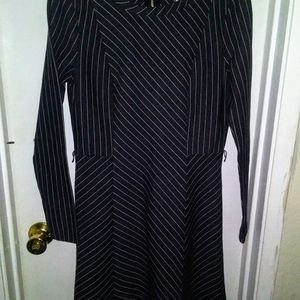 Michael kors structure dress striped formal party
